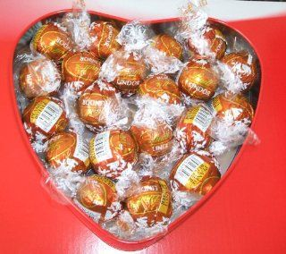 Lindt Peanut Butter Chocolate Truffle Valentines Day Gift Heart Present (20 Pieces) : Grocery & Gourmet Food