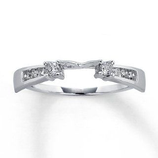 Kay Jewelers Previously Owned Enhancer 1/5 ct tw Round cut 14K White Gold: Jewelry