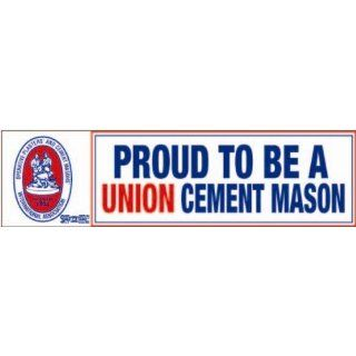 Set Of 3 Proud to be a Union Cement Mason bumper sticker: Industrial & Scientific