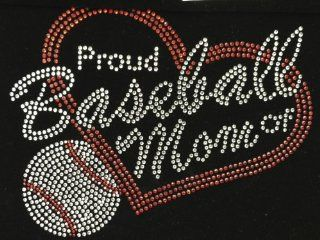 Proud Baseball Mom Rhinestone Transfer Iron On Hot Fix Motif Bling Applique   DIY: Everything Else