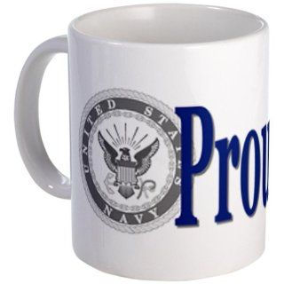 CafePress Proud Wife Navy Mug   Standard: Kitchen & Dining