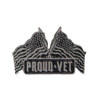 Hot Leathers Proud Vet Pin: Automotive