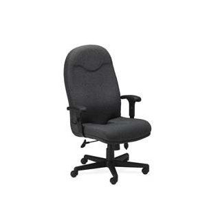 """Mayline Group Products   Exec. High Back Chair, Adjust Arms, 27""""x27""""x43 1/2"""" 47 1/2"""", GY   Sold as 1 EA   Executive high back chair is a part of the Comfort Series. This chair features the exclusive tailbone cut out in the seat cushion"""