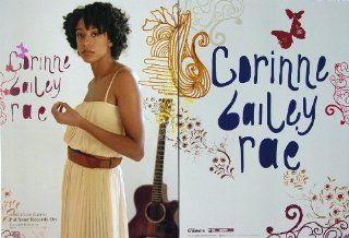Corinne Bailey Rae   Two Sided Poster   Rare   New   Helen   Like A Star   Put Your Records On   Trouble Sleeping   Butterfly   Artwork