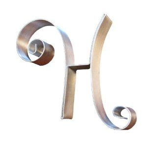 Hortense B. Hewitt Wedding Accessories Metal Scroll Cake Top, Letter H, 5 Inch Tall: Kitchen & Dining