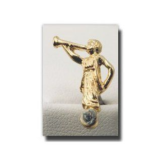 Angel Moroni Tie Tack (Gold and Crystall)   Gold Color Angel Moroni Lapel Pin with Crystal   Mormon Clothing Accessory   LDS Jewelry   Wear to Church   Great Gift   Cystal Jewelry for Christians   Religious and for Anyone   Primary Present   Wonderful for