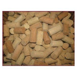 Recycled (previously used) Wine Corks, 75, Blank UNPRINTED 100% Natural   For Arts and Crafts Projects!: Wine Bottle Stoppers: Kitchen & Dining