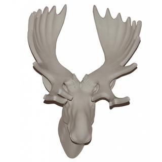 13 inches White Moose Head Wall Plaque Accent Pieces