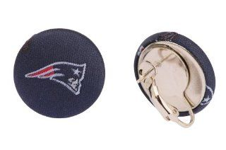 New England Patriots Pierced or Clip on Earrings: Sports & Outdoors