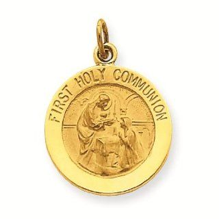 14k First Holy Communion Charm Pendant   Gold Jewelry: Reeve and Knight: Jewelry