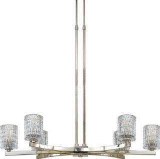 Quoizel RAN640IS Annalie Imperial Silver 6 Light Island Light   Ceiling Pendant Fixtures