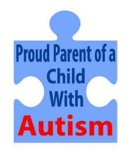 "Proud Parent of a Child With Autism Auto Car Sticker 7""X9""  Other Products"