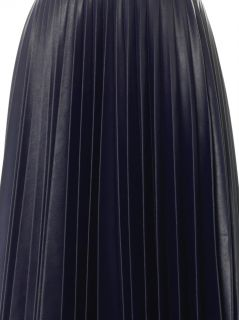Fully pleated faux leather skirt  J.W. Anderson