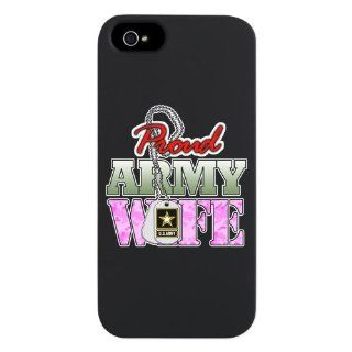 iPhone 5 or 5S Case Black Proud Army Wife: Everything Else