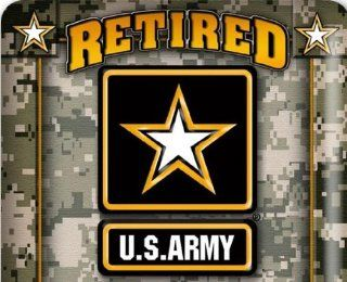 """RETIRED U.S.ARMY """"ARMY STRONG EMBLEM"""" UNITED STATES ARMY PROUD TO SERVE COASTERS(6 PER PACK) : Everything Else"""