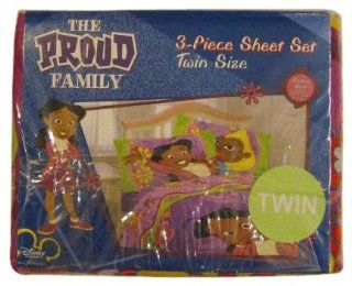 Proud Family Twin Sheet Set 3pc Disney Bedding   Childrens Pillowcase And Sheet Sets