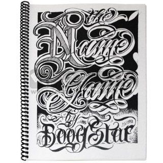 The Name Game by Boog Star Sketchbook Letter Flash Element Tattoo Supply: Health & Personal Care