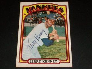Yankees Jerry Kenney Auto Signed 1972 Topps #158 JSA C at 's Sports Collectibles Store