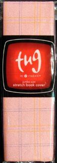 Stretch Book Cover, Jumbo, Pink Plaid  Writing Notebooks