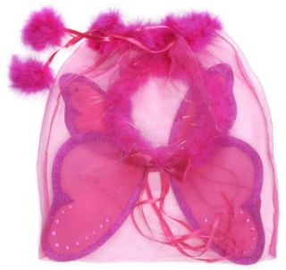 Creative Education's Hot Pink Fairy Wings And Halo (One Size): Clothing