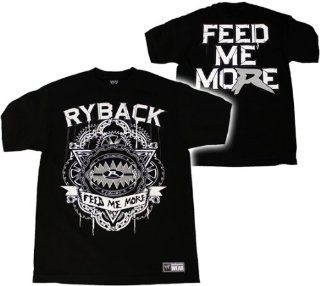 RYBACK   FEED ME MORE   WWE WRESTLING T SHIRT   SIZE ADULT X LARGE: Sports & Outdoors