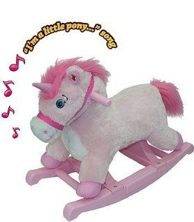"Tek Nek ""Rockin Rider"" Pink Pony/unicorn   Recommended Age 15mths to 3 Yrs.: Toys & Games"