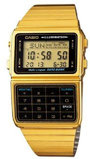 Casio #DBC611G 1D Men's Gold Tone 25 Memory Calculator Databank Watch: Casio: Watches