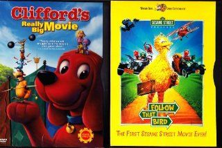 Sesame Street Follow That Bird , Clifford's Really Big Movie : Family Movie Night 2 Pack: Movies & TV