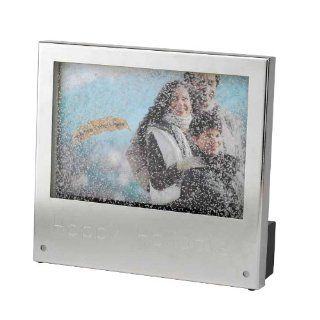 Gold Label Really Snowing Photo Frame    Happy Holidays   Christmas Decor