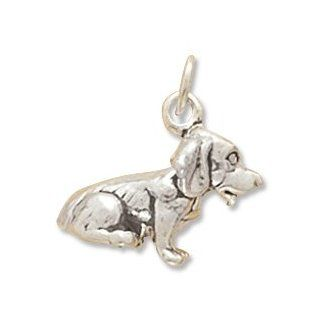 Sterling Silver Dog Breed   Beagle Charm: West Coast Jewelry: Jewelry