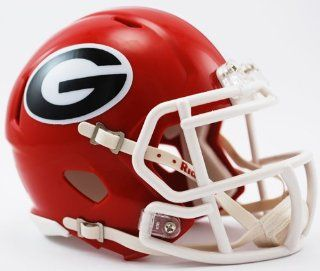 Georgia Bulldogs Riddell Speed Mini Football Helmet : Sports Related Collectible Full Sized Helmets : Sports & Outdoors