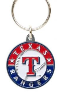 Zinc MLB Team Logo Key Ring   Texas Rangers : Sports Related Key Chains : Clothing
