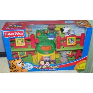 Fisher Price Little People Baby Zoo Animals: Toys & Games