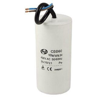 AC 450V 50/60Hz 100uF Cylinder Motor Run Capacitor CBB60 : Vehicle Amplifier Capacitors : Car Electronics