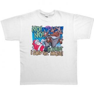 MENS T SHIRT : PINK   XXX LARGE   No No I Said The Schmidt House   Funny Santa Reindeer Outhouse Christmas: Clothing