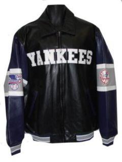 New York Yankees Pleather Varsity Jacket with  Sports Related Merchandise  Clothing