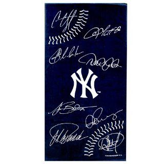 New York Yankees MLB 30x60 Signature Ball Towel  Sports Related Merchandise  Sports & Outdoors