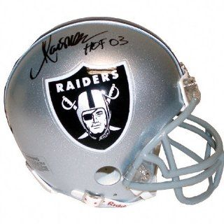 Marcus Allen Oakland Raiders Autographed HOF Logo Mini Helmet : Sports Related Collectible Mini Helmets : Sports & Outdoors