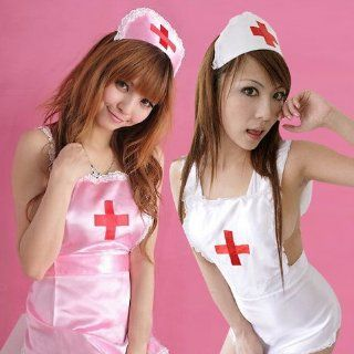 Nurse outfit nurse cosplay nurse apron white sh029 W [same day shipment possibility] (japan import): Toys & Games