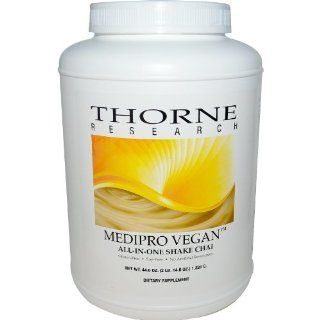 Thorne Research Medipro Vegan All In One Shake, Chai 44.6oz: Health & Personal Care