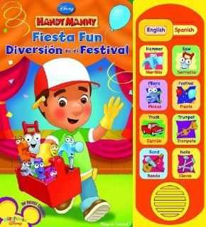 Play a Sound: Handy Manny, Fiesta Fun / Diversi�n en el Festival: Editors of Publications International, Ltd.: 9781412788670:  Children's Books