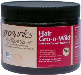 Groganics Hair Gro N Wild, 6 Ounce : Hair Regrowth Treatments : Beauty