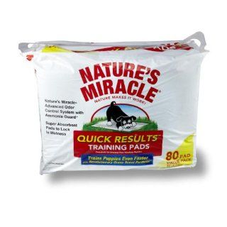 Nature's Miracle Quick Results Training Pads, 80 Count : Pet Training Pads : Pet Supplies