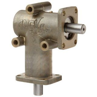 """Andantex R3000 Anglgear Right Angle Bevel Gear Drive, Universal Mounting, Single Output Shaft, 2 Flanges, Inch, 3/8"""" Shaft Diameter, 1:1 Ratio, .34 Hp at 1750rpm: Mechanical Gearboxes: Industrial & Scientific"""