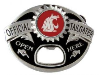 Washington State Cougars Tailgater Novelty Belt Buckle: Clothing