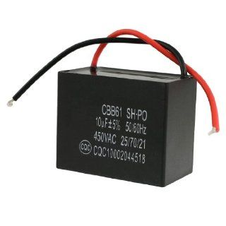 Amico 450VAC 10uF 50/60Hz Fan Motor Start Running Capacitor CBB61: Industrial & Scientific