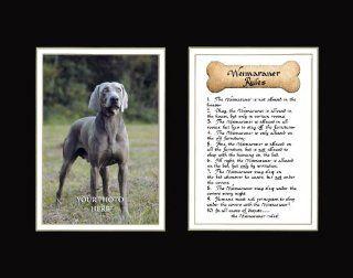 Dog Rules Weimaraner Wall Decor Pet Saying Dog Saying   Decorative Plaques
