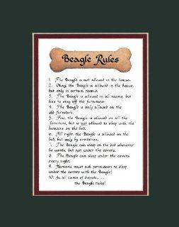 Dog Rules Beagle Wall Decor Pet Saying Dog Saying   Decorative Plaques