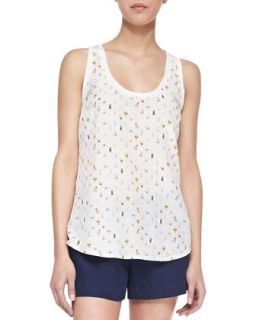 Womens Rain Bug Silk Tank Top   Joie   New moon (MEDIUM)