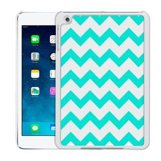 Apple iPad Mini Chevron Turquoise and White Pattern Case: Cell Phones & Accessories